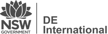 De International Logo